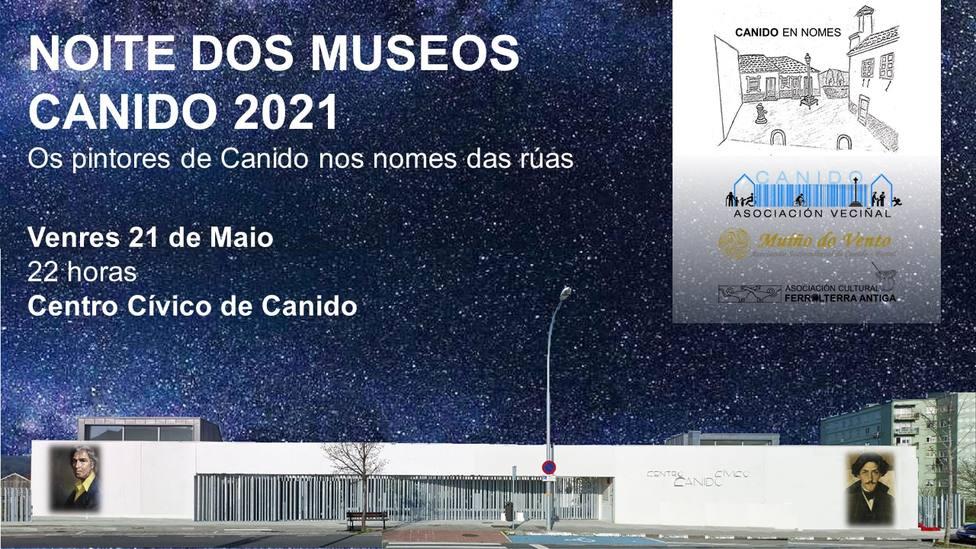 La proyección tendrá lugar el viernes 21 en la fachada del centro cívico de Canido