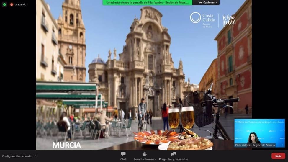 Imagen de la presentación digital de la Región como destino turístico