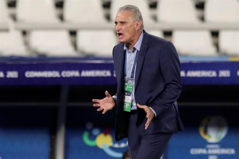 Tite, durante los cuartos de final de la Copa América
