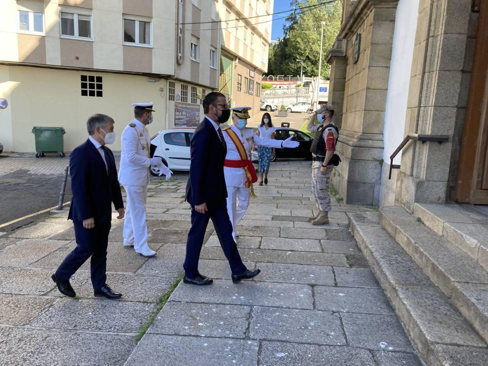 Ángel Mato participó en los actos del Carmen organizados por la Armada. FOTO: concello Ferrol
