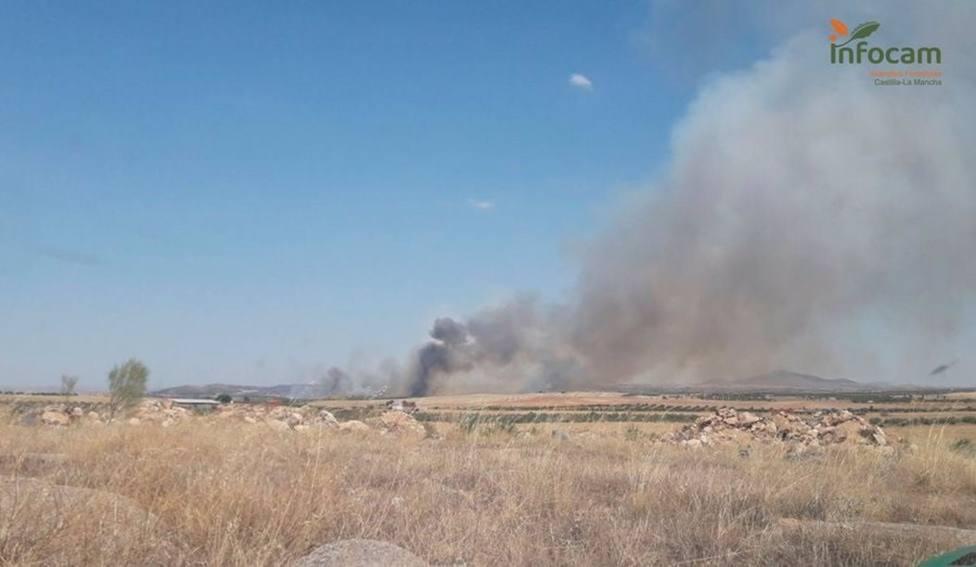 Incendios.- Controlado el incendio declarado en San Martín de Montalbán (Toledo)