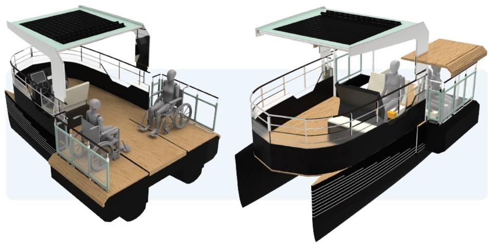 Imágenes de los proyectos de los catamaranes accesibles. FOTO: UDC