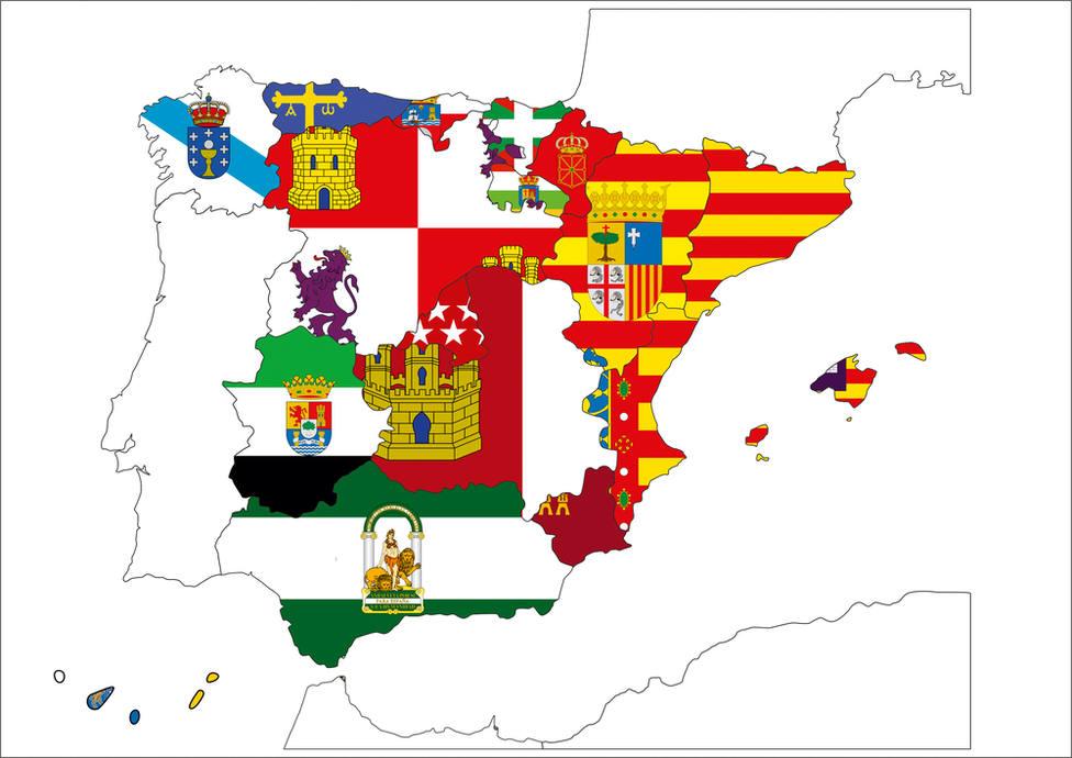 Este es el mapa de España con los postres más populares de cada región