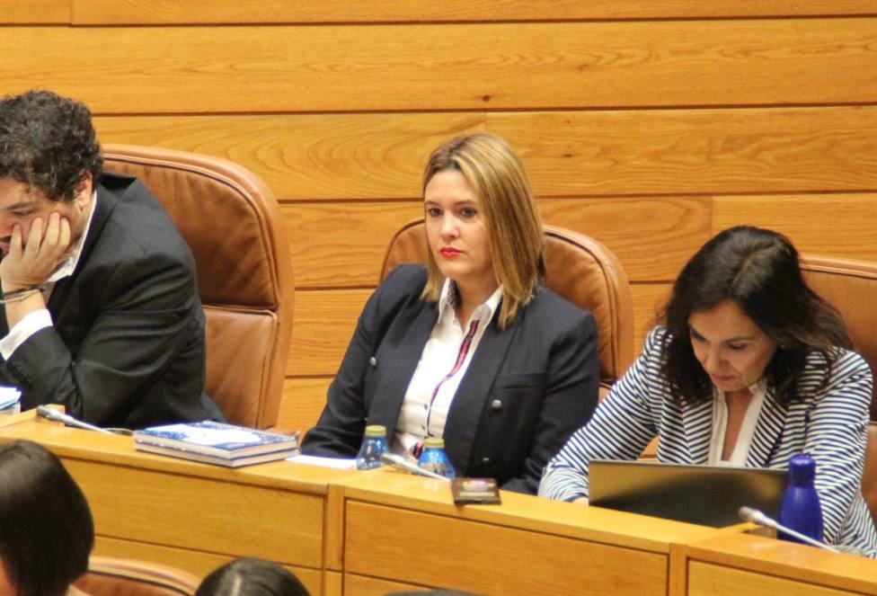 Patricia Otero en el Parlamento de Galicia