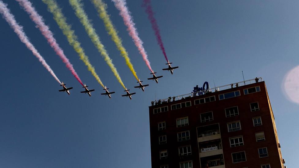 El Ejército del Aire explica qué ha pasado con la bandera de la Patrulla Águila: Simple y llanamente