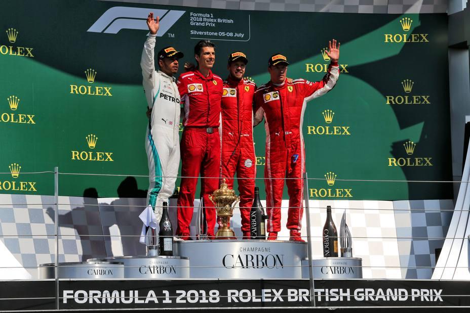 Podio GP Gran Bretaña