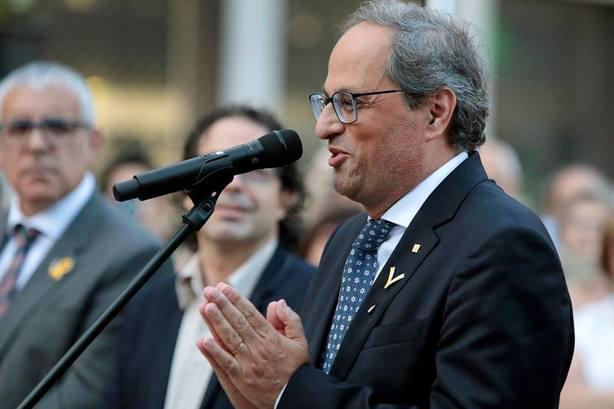 Torra pide encender pacíficamente Cataluña en las próximas semanas y meses