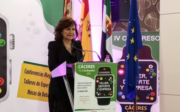 Carmen Calvo asegura que la igualdad no es una moda y ha venido para quedarse en la agenda política de los gobiernos