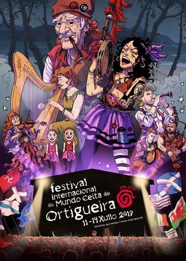 Cartel anunciador del Feltival del Mundo Celta de Ortigueira 2019