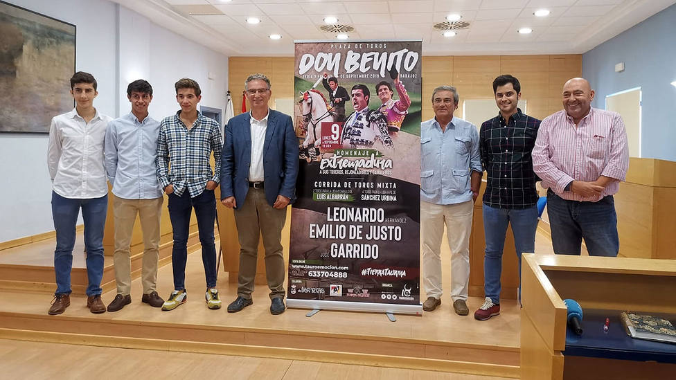 Acto de presentación de la feria taurina de Don Benito (Badajoz)