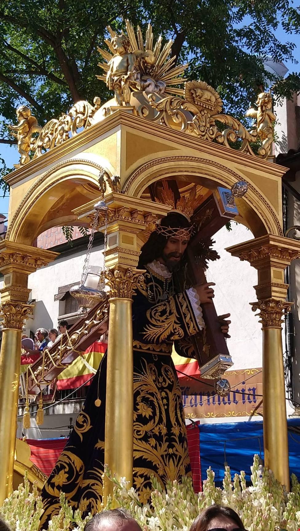 El Cristo de Urda en las calles de la ciudad