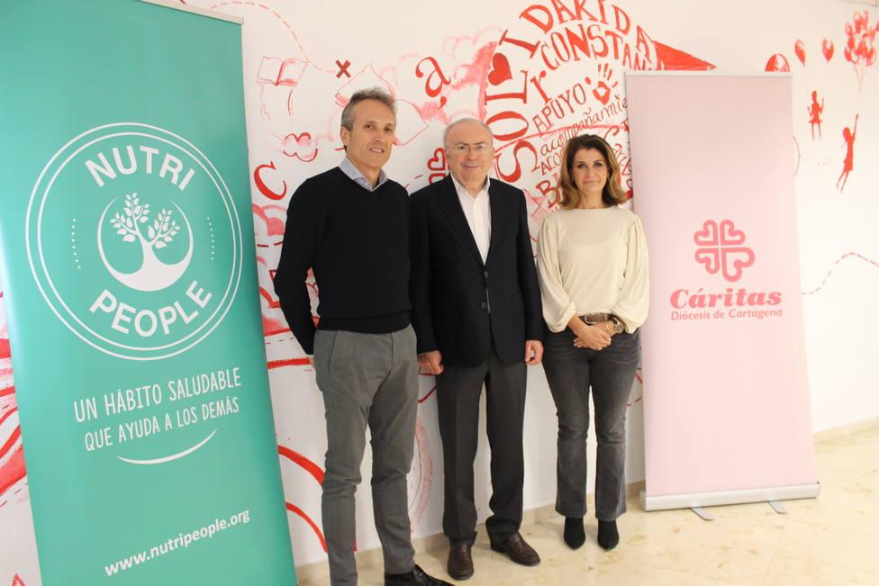 La empresa alimenticia Nutripeople donará parte de sus beneficios a Cáritas para proyectos sociales