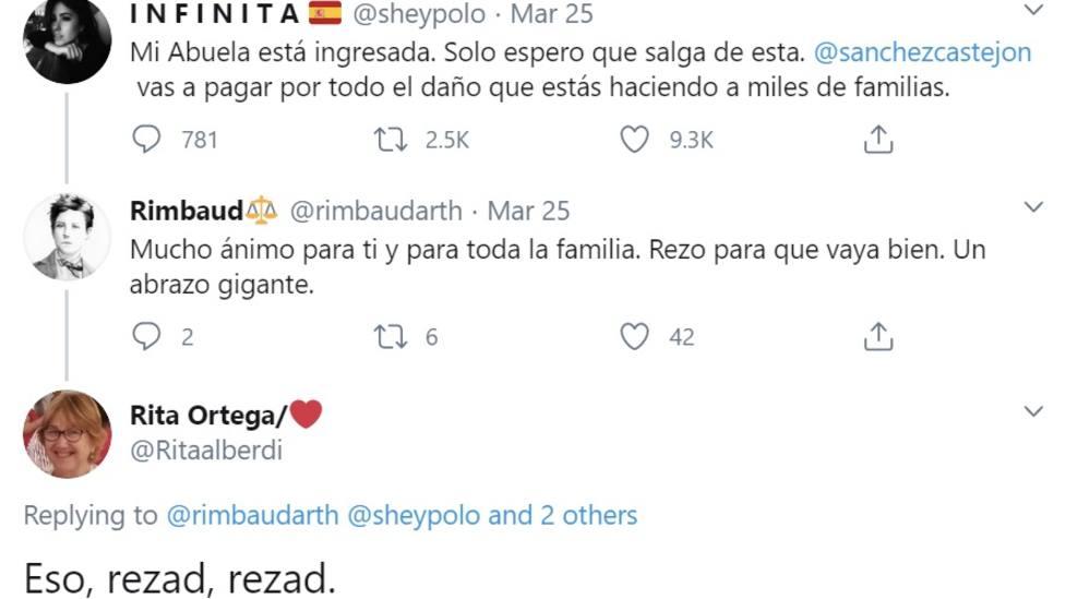 La número 2 del PSOE en Badajoz, Rita Ortega, se burla de las víctimas del coronavirus