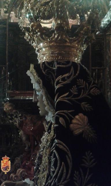 The Virgin of Sorrows, patron saint of Granada, crowned