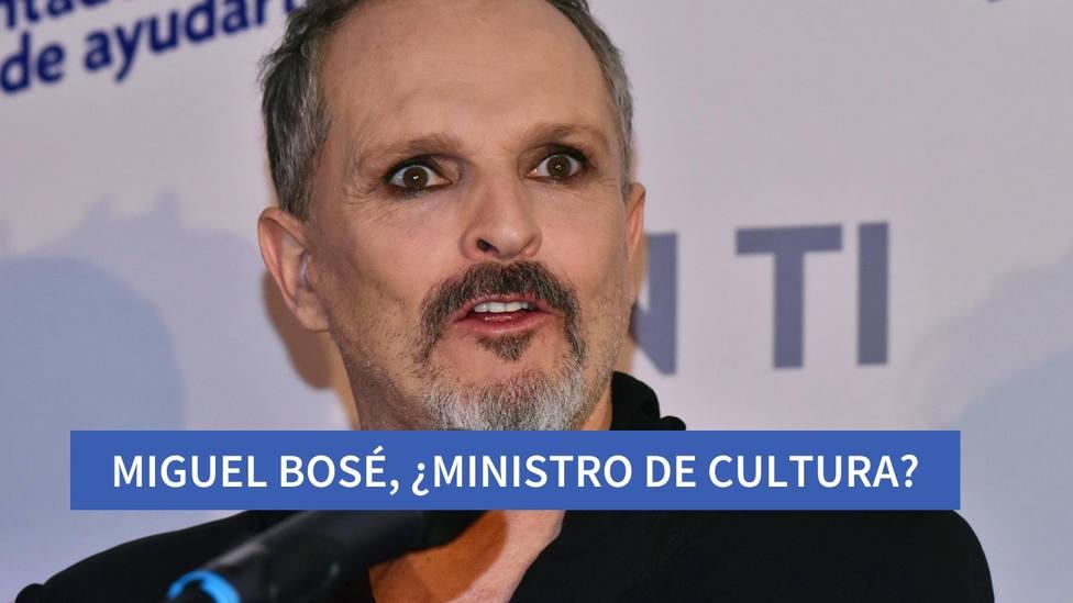 Los motivos por los que Miguel Bosé rechazó ser ministro de Cultura
