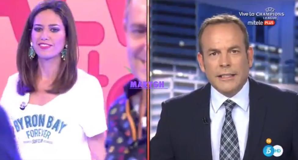 El desagradable momento en directo que deja con esta cara al presentador de Informativos Telecinco