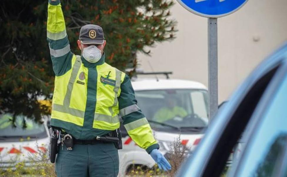 Guardia Civil en un control de tráfico. Foto: Agencias