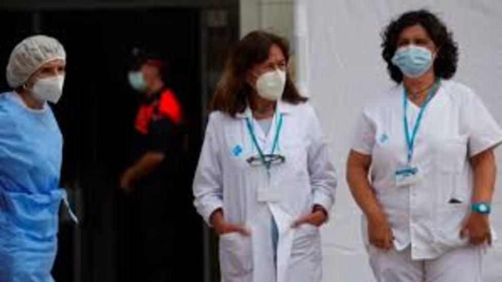 Hospital de Cataluña con pacientes covid