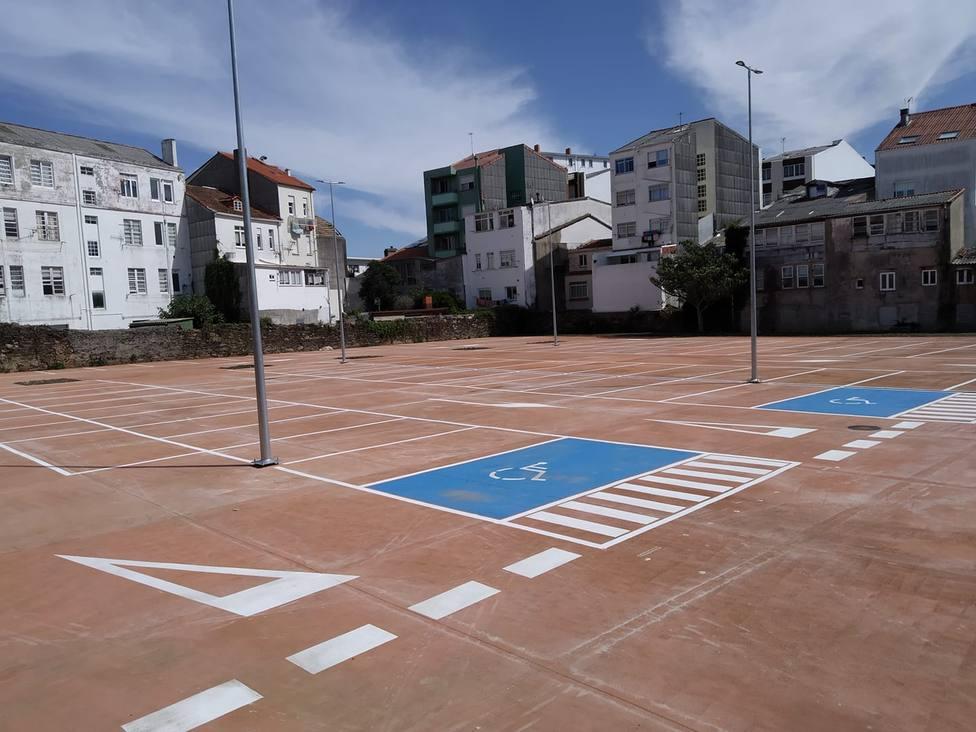 Nuevo parking de Canido - FOTO: Luis Taboada