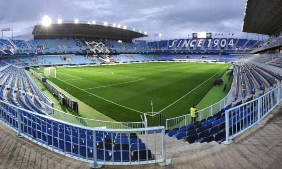 El Sporting juega en La Rosaleda