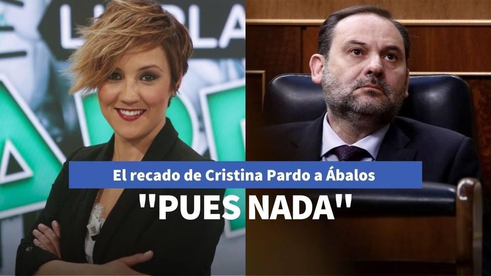 Cristina Pardo lee la cartilla a José Luis Ábalos por sus declaraciones sobre el estado de alarma