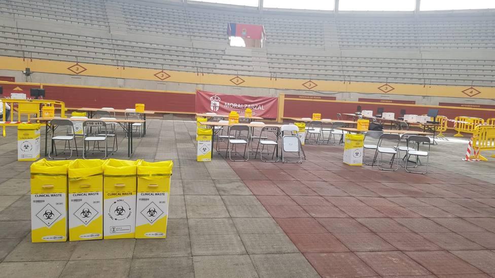 Las pruebas de antígenos se han realizado en la Plaza de Toros cubierta