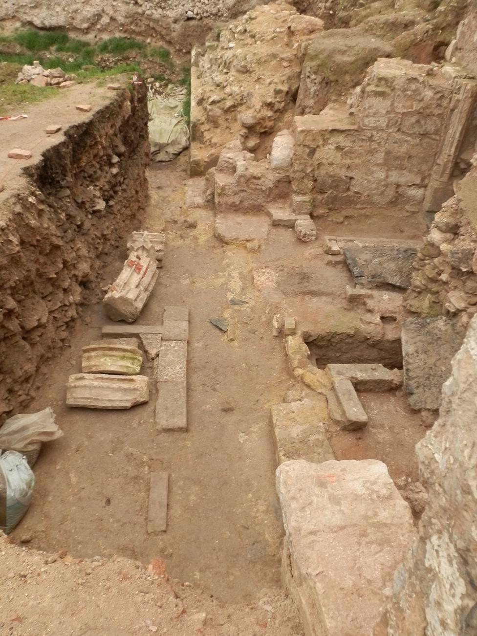 Descubren los restos de la capilla de San Andrés de la desaparecida iglesia de San Román de Burgos