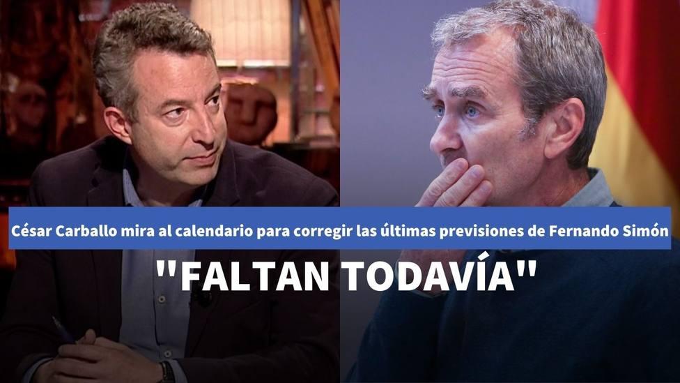 El doctor Carballo tira de calendario para corregir la última previsión de Fernando Simón: Faltan todavía