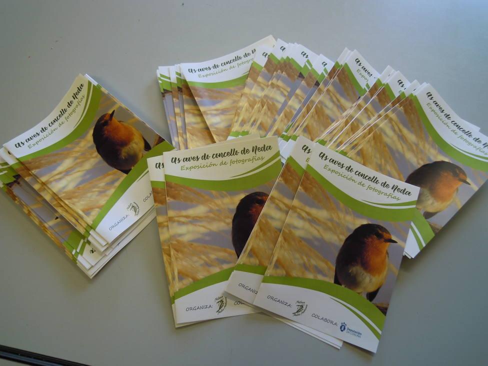 Libros informativos de la exposición de Néboa en Neda
