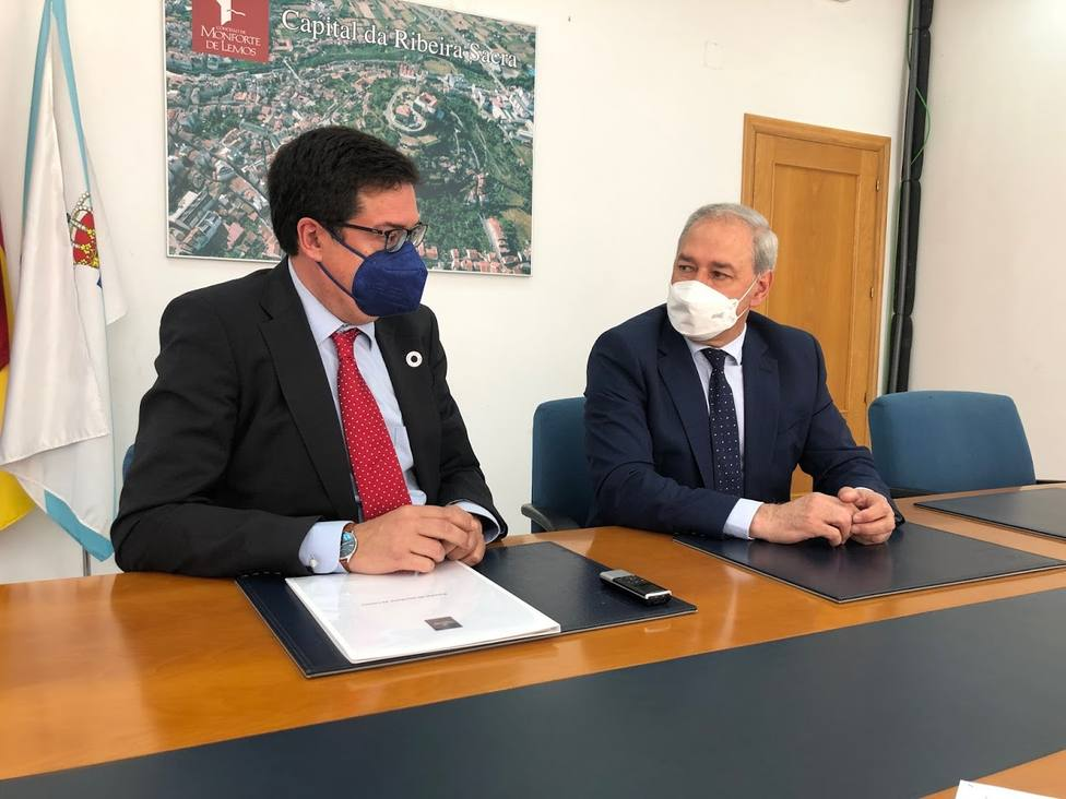 Tomé y Óscar López se reunieron hoy en Monforte