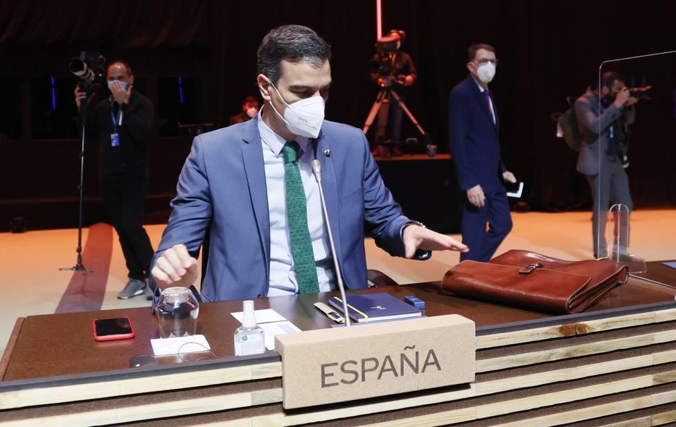 Pedro Sánchez en la Cumbre del Consejo Europeo de Oporto