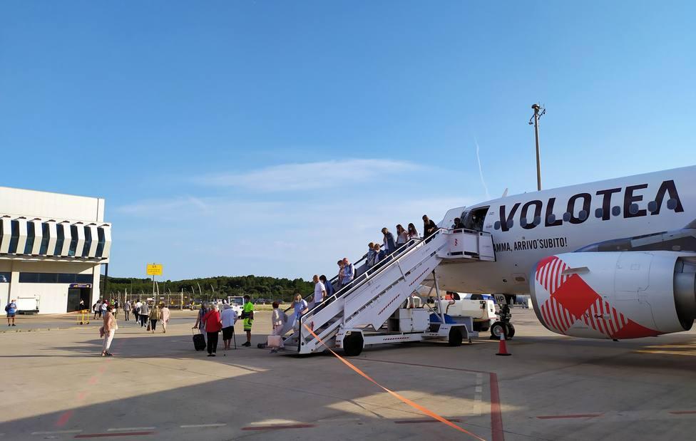 Volotea opera desde el aeropuerto de Castellón la ruta que enlaza con Bilbao