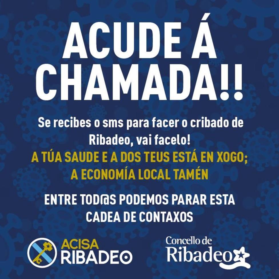 Cartel animando a participar en el cribado en Ribadeo