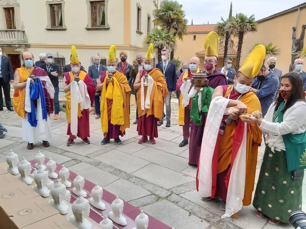Momento de la visita de la delegación nepalí a Cáceres el pasado mes de abril