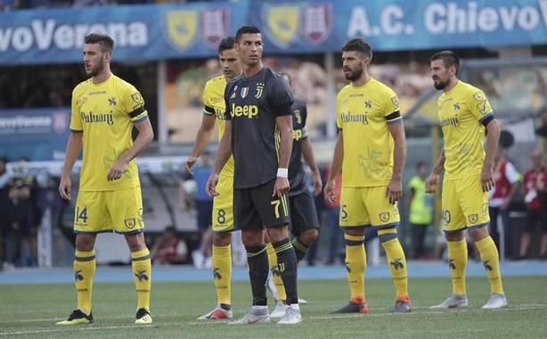 Cristiano Ronaldo en su debut con la Juventus