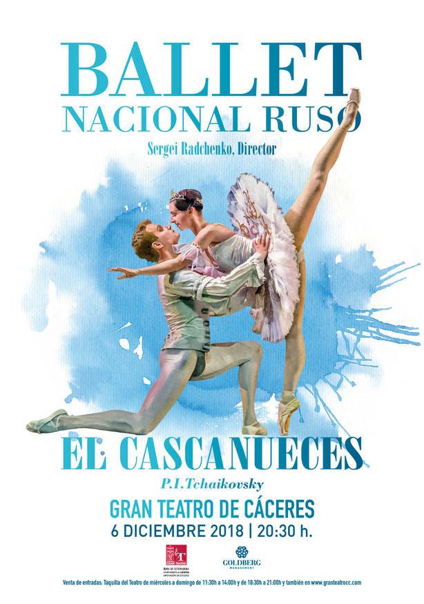 El Ballet Nacional Ruso De Sergei Radchenko llega este jueves al Gran Teatro de Cáceres con El Cascanueces