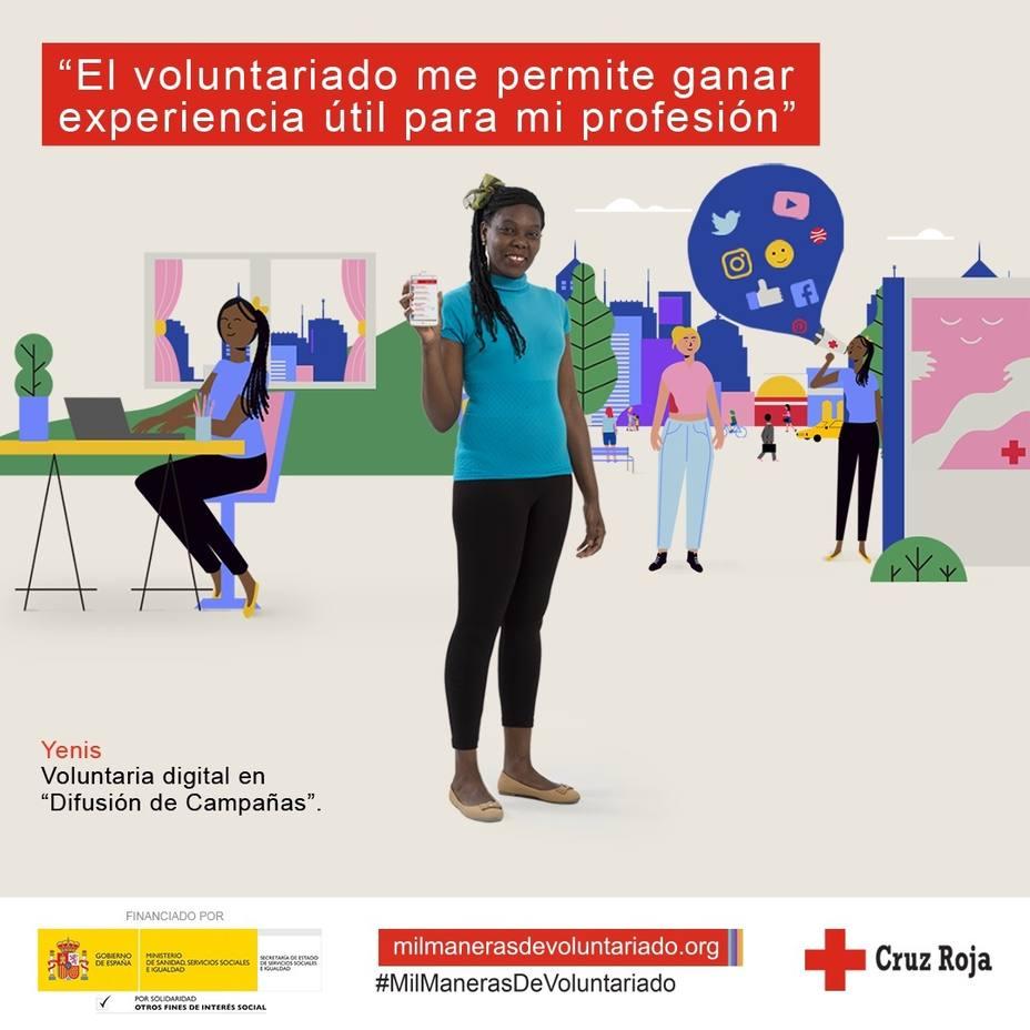 Cruz Roja lanza una campaña para recordar que hay mil maneras de hacer voluntariado