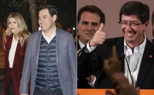 PP y Ciudadanos inician los contactos para alcanzar un acuerdo en Andalucía