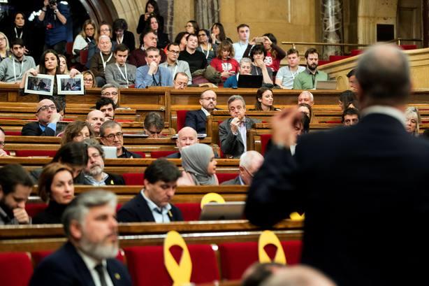 Sesión de control al gobierno catalán en el Parlament