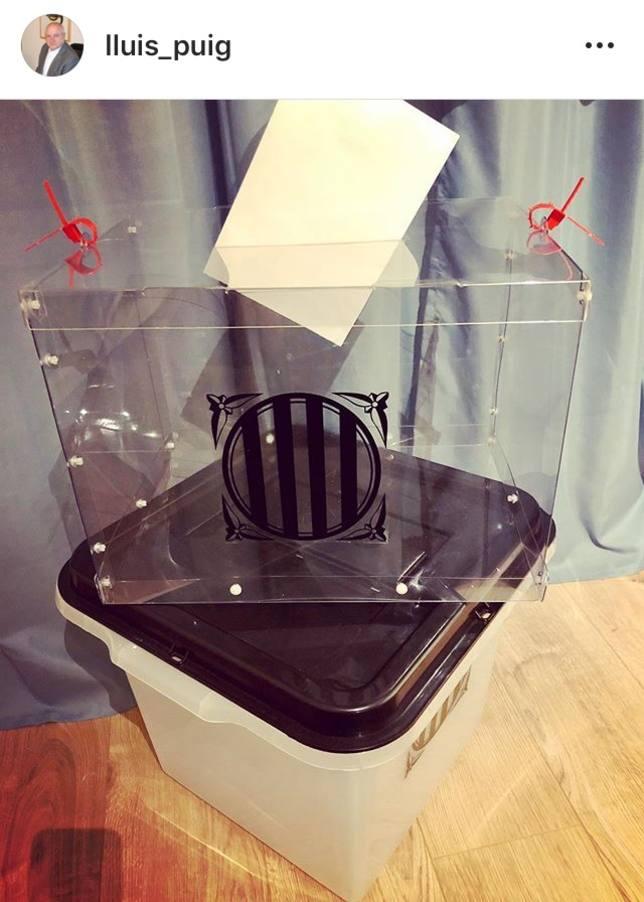 El exconseller Lluís Puig desvela unas urnas alternativas para el 1-O