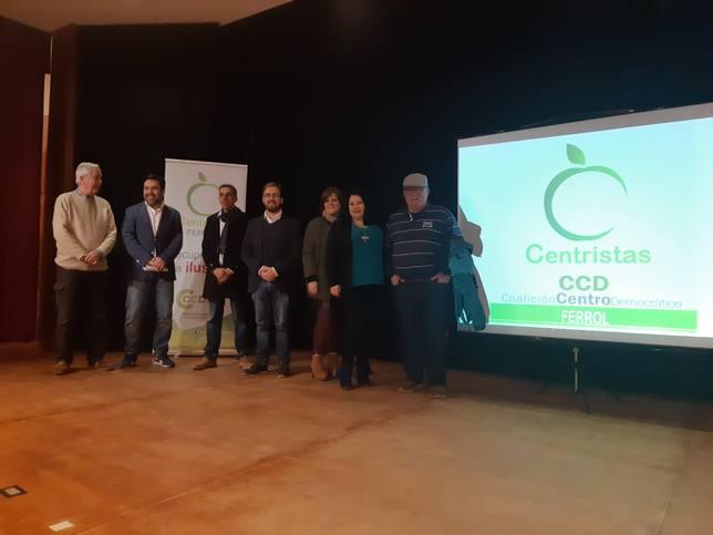 Presentación de los integrantes de la candidatura de Centristas en Caranza - FOTO: Centristas Ferrol