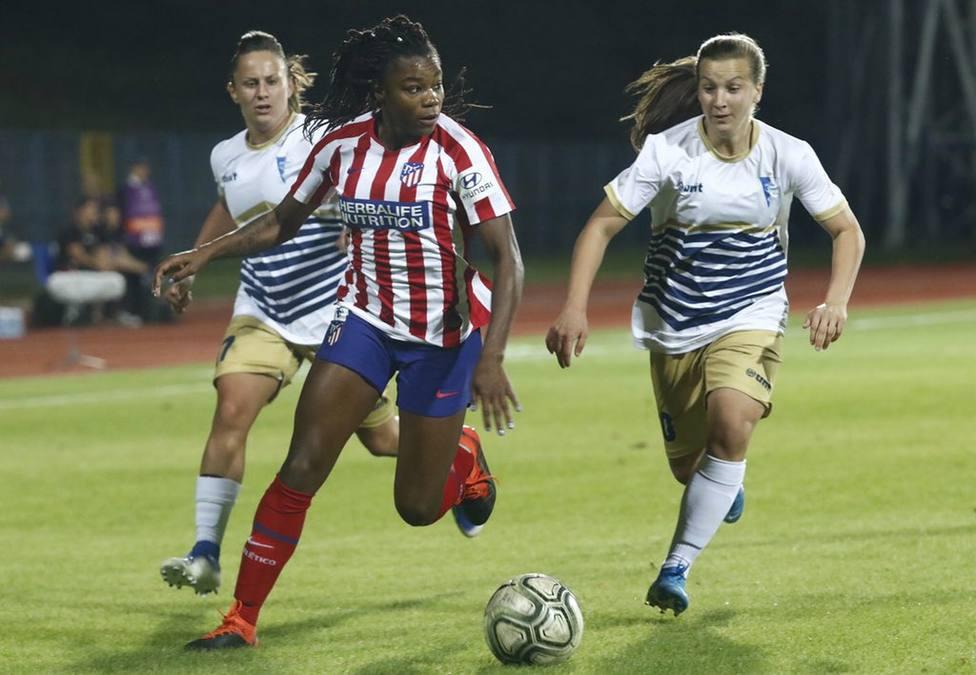 Un gol de Virginia Torrecilla en los minutos finales da la victoria al Atleti en Serbia