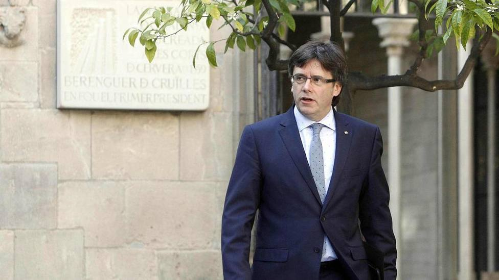 El expresidente autonómico Carles Puigdemont