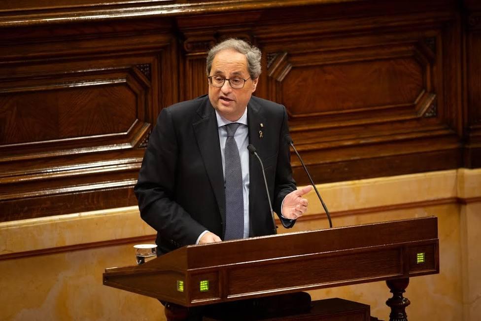 Torra cree que Cataluña no tendrá las cuentas que querría hasta conseguir la independencia