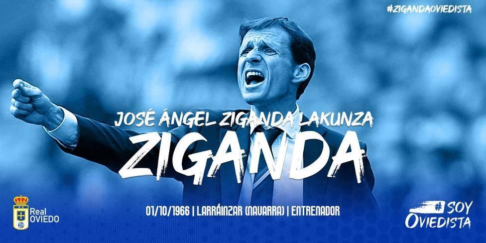Ziganda, nuevo entrenador del Real Oviedo.