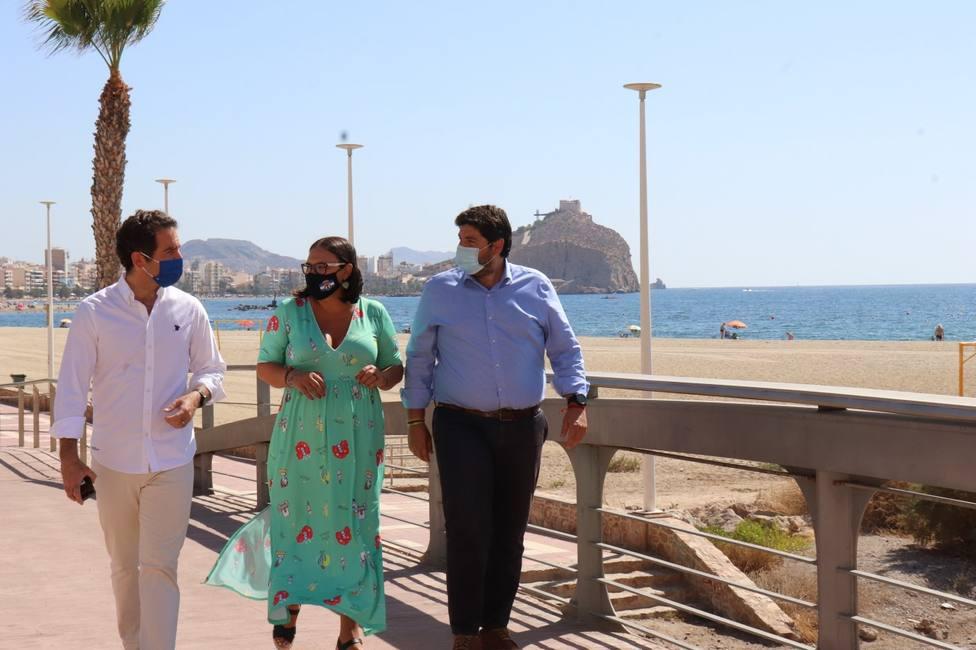 Teodoro García y Fernando López Miras visitan Águilas