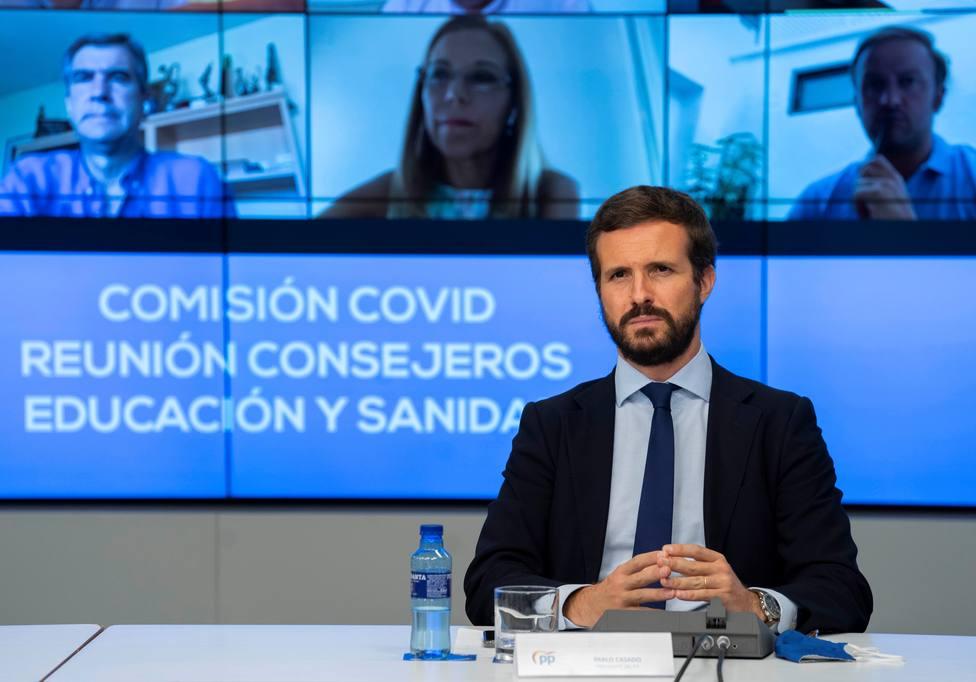 Casado asegura que no se puede pedir al PP que apoye unos Presupuestos de un Gobierno de Podemos