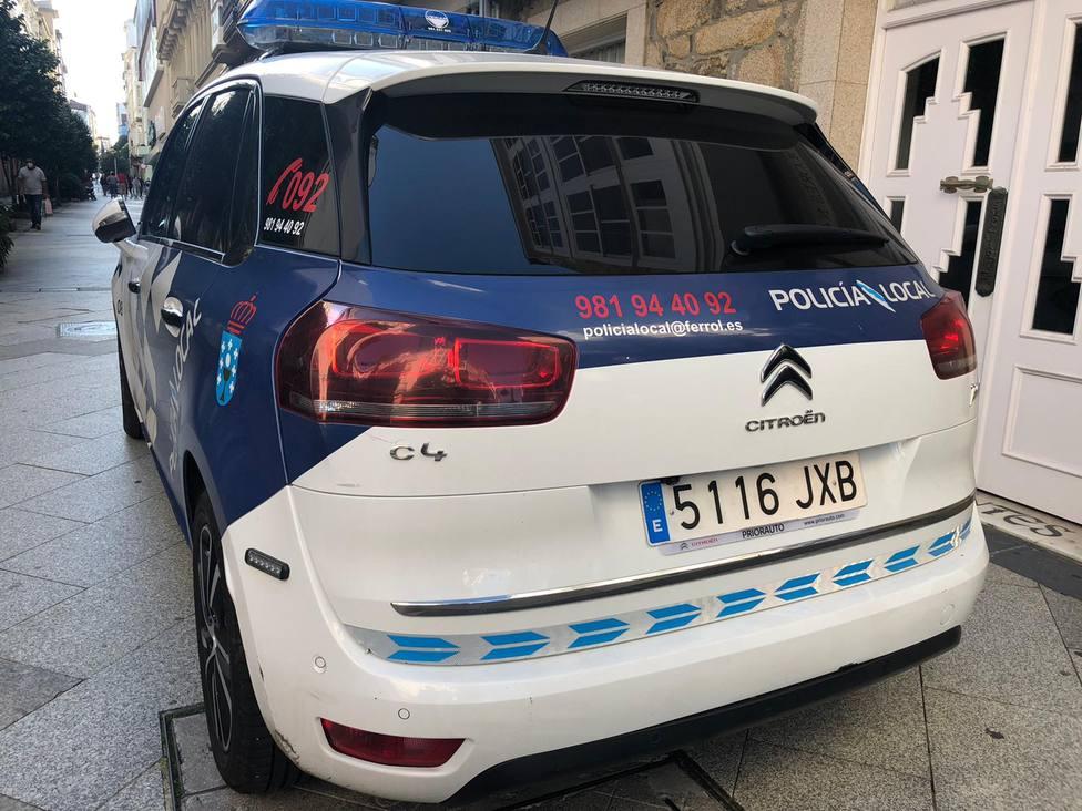 Foto de archivo de un vehículo de la Policía Local de Ferrol