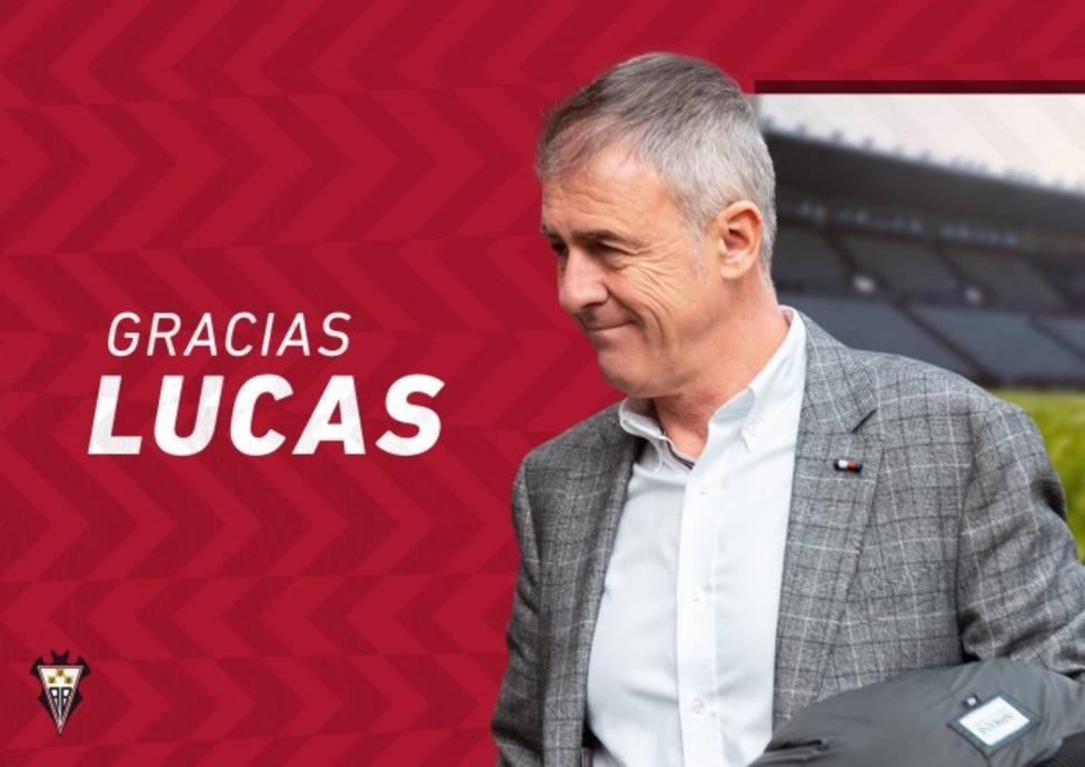 Infografía que el Albacete ha editado para despedir a Lucas Alcaraz