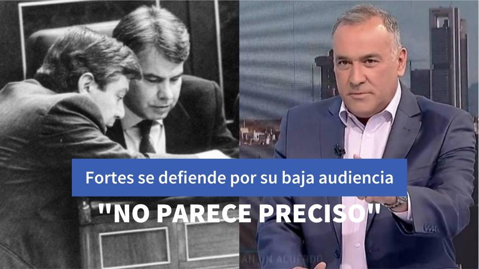 La respuesta de Xabier Fortes a un exministro del PSOE tras burlarse de su audiencia en RTVE